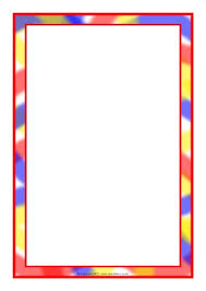Small Picture Themed A4 Page Borders for Kids Editable Writing Frames and