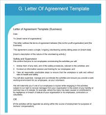 letter of agreement example business agreement sample letter