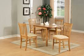 Rectangular Kitchen 5pc Rectangular Kitchen Dinette Table Set 4 Chairs Oak