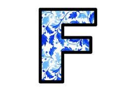 Blue Letters Blue Watercolor Leaves Bulletin Board Letters Spring Alphabet School Decor