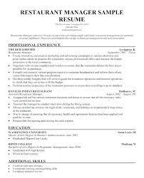 Resume For Food Server Food And Beverage Resume Examples Food Server Resume Sample Food