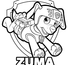 Free Paw Patrol Coloring Pages Happiness Is Homemade Singular