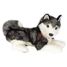 fao schwarz 19 inch plush alaskan husky gray and white siberian husky puppies husky