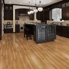 create a luxurious look to your dwelling with this allure ultra clear cherry luxury vinyl plank flooring from trafficmaster durable vinyl flooring is