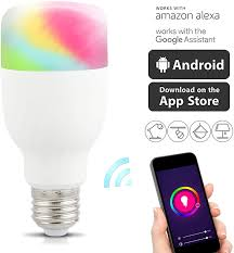 Types App Controlled Led Lights Wifi Smart Led Light Bulb Compatible With Alexa Google E26 E27 Rgb Light Bulb With Multicolor No Hub Required Smartphone App Controlled For Home