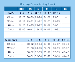 Best Buy Figure Skating Rebel Dress Size Chart