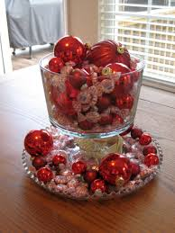 cheap christmas decor:  cheap bowl centerpiece ideas using christmas decorations