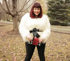 fashion find white faux fur jacket from lane bryant
