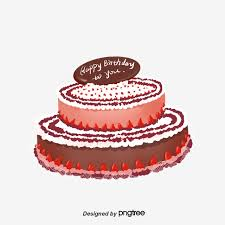 Cartoon Birthday Cake Cartoon Lovely Hand Painted Png Transparent