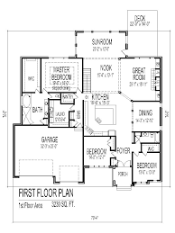 Tuscan House Floor Plans Single Story  Bedroom  Bath  Car - Two bedroomed house plans
