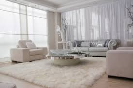 White Living Room Decor With Sheer White Blinds. Sheer Curtain Ideas