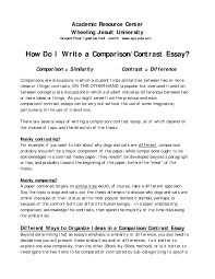 comparison essay college comparison essay
