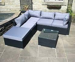 black rattan garden chairs uk 4pc furniture set or brown homebase outdoor corner sofa in excellent