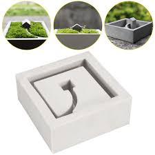 diy silicone flower pots mold 3d handmade cement molds silica gel concrete mould
