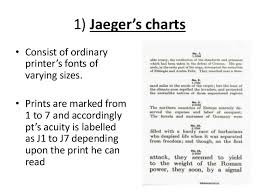 Jaeger Number 1 Eye Chart Visual Acuity By Pd