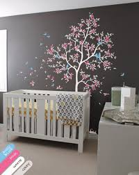 nursery wall tree decal murals with leaves erflies tree flowers and birds