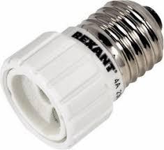 11-8814, <b>Переходник цокольный</b> E27-GU10 белый | купить в ...