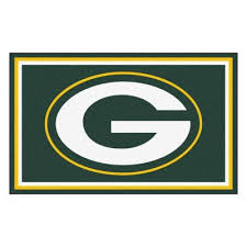 green bay packers 4 ft x 6 ft area rug