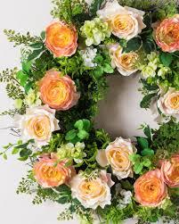 English Garden Rose Wreath Image. Wreath
