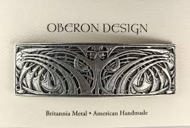 Oberon Design Hair Clips Art Nouveau Weave Hair Clip Large Hand Crafted Metal Barrette Made In The Usa With An 80mm Imported French Clip By Oberon Design
