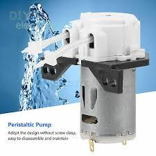 <b>DC</b> 12V Peristaltic Dosing Pump 1x3-3x5mm <b>Head</b> Tube For Lab ...