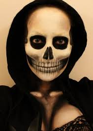 grim reaper makeup close eyes and the area looks totally black cool
