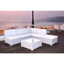 corner garden rattan sofa set grey
