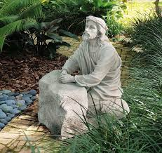 christ in the garden of gethsemane.  Christ Christ In The Garden Of Gethsemane Statue  Stone Throughout In The Of
