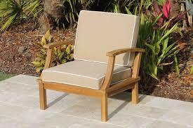deep seat teak armchair including full sunbrella cushions
