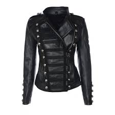 benedetta military las black leather jacket womens leather jackets uk