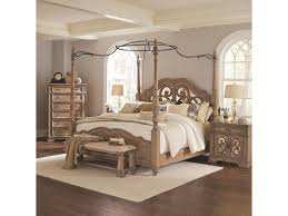 Ilana King Canopy Bed with Mirror Back Headboard by Coaster at Value City Furniture