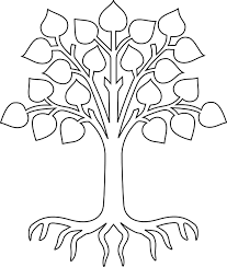 Small Picture Coloring Page Tree With Roots Coloring Pages