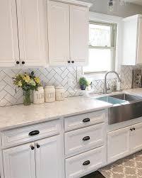 white backsplash tile with white cabinets. Backsplash Tile With White Cabinets For Black Throughout