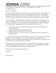 Sample Resumes And Cover Letters Best Satellite TV Technician Installer Cover Letter Examples 60