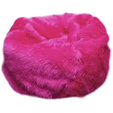 Fuzzy Fur Hot Pink Bean Bag Chair - Polyvore