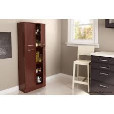 kitchen storage cabinets with doors. Exellent Kitchen South Shore Axess 4Door Royal Cherry Food Pantry Throughout Kitchen Storage Cabinets With Doors H