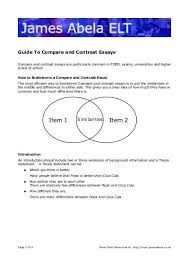 Compare Two People Essay Guide To Compare And Contrast Essays James Abela Elt