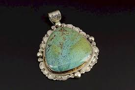 large navajo turquoise pendant by winfield trading inc 1063429 bidsquare