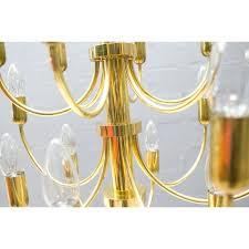 vintage brass regency chandelier design furniture previous hollywood gold