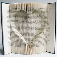 book folding pattern heart cut and fold with free printable s pdf to personalise your book art and full step by step tutorial