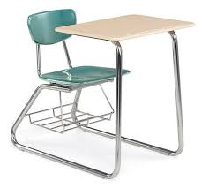 school desk and chair combo. chair desk combo. shown with optional bookrack school and combo office direct discounted furniture equipment.