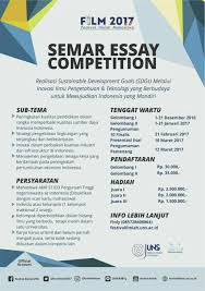 essay on sustainable development essay sustainable development  essay competition semar essay competition lomba or id portal informasi lomba terbaru lomba