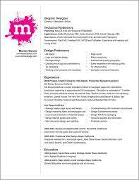 Sample Designer Resume Graphic Design Resume Examples On Example Of