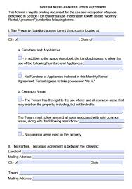 A lease is also commonly called a lease agreement, a rental agreement, a rental contract, a lease form, a rental lease agreement, an. Free Georgia Rental Lease Agreement Templates Pdf Word Doc