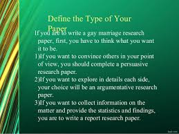 gay marriage research paper 3 if you are to write a gay marriage research paper