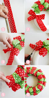 DIY Easy Christmas Ribbon Wreath