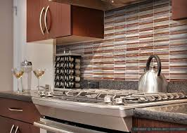 ... Metal Backsplash Tile Modern Brown Cabinet Quartz Countertop Brown  Cabinet Metal Modern Kitchen Backsplash ...