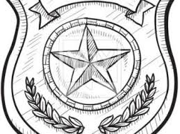 Small Picture Drawing of police badge police or firefighter badge sketch vector