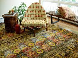 sari silk sari 05 multi gold room lifestyle hand knotted area