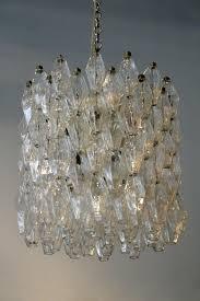 clear polyhedral chandelier by carlo scarpa
